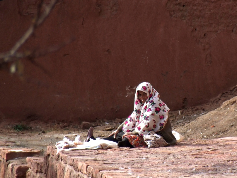 A woman in Abyaneh